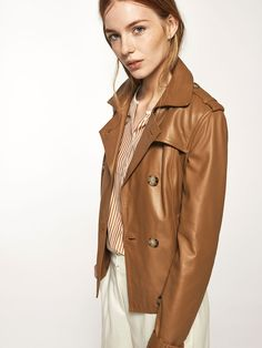 Autumn winter 2016 Women´s BEIGE NAPPA TRENCH COAT at Massimo Dutti for 345. Effortless elegance!
