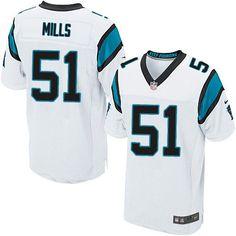 Nike Elite Sam Mills White Men's Jersey - Carolina Panthers #51 NFL Road