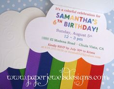 Over the Rainbow Rainbow Dash Birthday, Rainbow Dash Party, Rainbow Birthday Invitations, Rainbow Parties, Rainbow Theme, 10th Birthday Parties, 4th Birthday, Birthday Ideas, Backyard Birthday