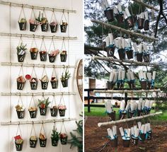 (DIY): Another Pottery Barn find from holiday seasons past, you can definitely DIY it up with buckets, branches, and twine.