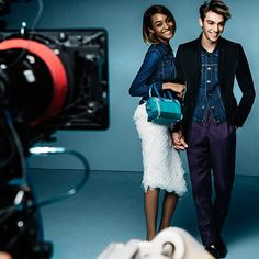 Shooting the Spring/Summer 2015 campaign with George Le Page and Jourdan Dunn in new season Prorsum