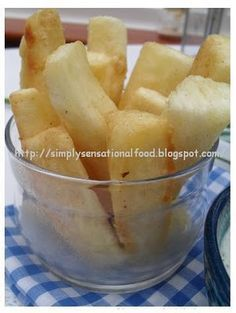 Yuka. A root that when cooked right taste just like french fries! so a healthy substitute for fries :)
