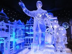Walt Disney and Mickey Mouse Ice Sculpture