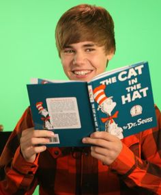 Go, Biebs, go!  Justin reading Cat in the Hat!