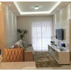 Trendy Home Decored Classy Apartments Small Living Rooms, Home Living Room, Living Room Designs, Living Room Decor, Classy Living Room, Trendy Home, Home Decor Kitchen, Ceiling Design, Small Apartments