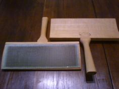 Selling Ebay- Schacht Spindle Co. Wool carding paddles Tools Fiber Arts #SchachtSpindleCo