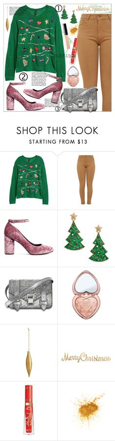 """""""Ugly But Still Cute Christmas Sweater"""" by bitty-junkkitty ❤ liked on Polyvore featuring Proenza Schouler and Too Faced Cosmetics"""