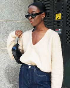 The best winter sunglasses are all here for from the colour to wear now (white) to the silhouette we're all opting for (rectangular) shop our faves. Covet Fashion, 90s Fashion, Womens Fashion, Fashion Shoes, Fashion Black, Fashion 2018, Fashion Pants, Fashion Online, Fashion Dresses
