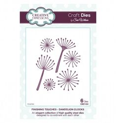 Craft Dies by Sue Wilson - Finishing Touches Collection - Dandelion Clocks CED1434
