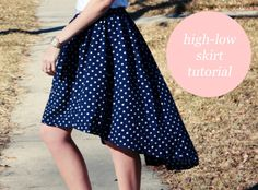 diy highlow skirt