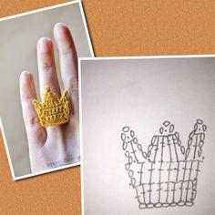 鉤針圖解--皇冠