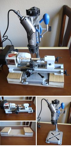 Desktop lathe : Emco Unimat 3 Lathe with Micro Drill Press    http://www.modelismonaval.com/foro/viewtopic.php?f=4&t=12142
