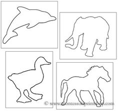 Pin-Poking Animal Shapes - Printable Montessori materials to help teachers save time for Montessori Learning at home and school.