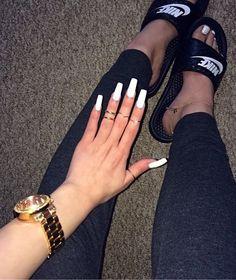 White manicure & pedicure