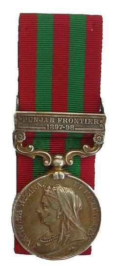 VICTORIAN INDIA MEDAL PUNJAB FRONTIER 1897-98 CLASP ARG & SUTH'D Highlanders