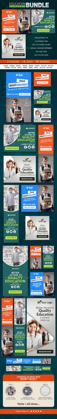 Education Banner Bundle Template PSD | Buy and Download: http://graphicriver.net/item/education-banner-bundle-3-sets/8661528?WT.ac=category_thumb&WT.z_author=doto&ref=ksioks