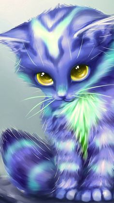 Ideas Cats Cartoon Illustration Dogs For 2019 Cute Animal Drawings Kawaii, Cute Cartoon Animals, Anime Animals, Cute Drawings, Baby Animal Drawings, Colorful Animal Paintings, Colorful Animals, Cute Cat Wallpaper, Animal Wallpaper