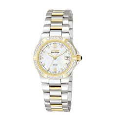 Citizen Women's Eco-Drive Riva Two Tone Stainless Steel Bracelet Watch Citizen Eco, Cool Watches, Watches For Men, Women's Watches, Wrist Watches, Ladies Watches, Watch Companies, Stainless Steel Bracelet, The Ordinary