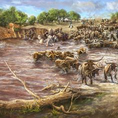 Museum of the Red River Idiabel oklahoma Red River Valley, River Bank, Come And See, Oklahoma, Museum, History, Illustration, Painting, Art