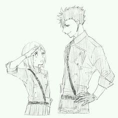 Yachi and Kuroo
