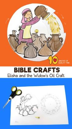 Elisha and the Widow's Oil Craft Preschool Bible Lessons, Bible Activities For Kids, Bible Crafts For Kids, Bible Lessons For Kids, Group Activities, Sunday School Crafts For Kids, Sunday School Activities, Sunday School Lessons, Elijah And The Widow