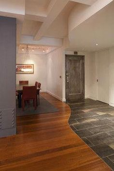Wood Tile Floor Combination Design Ideas, Pictures, Remodel and Decor Outdoor Wood Flooring, Entryway Flooring, Kitchen Flooring, Tile Entryway, Kitchen Tile, Wood Like Tile, Wood Tile Floors, Hardwood Floors, Laminate Flooring