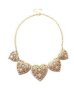 Gold Cutout Necklace