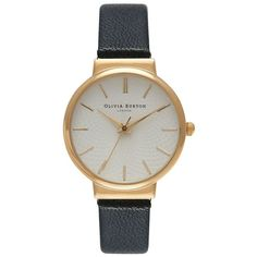 Olivia Burton The Hackney Watch - Black & Gold (885 ARS) ❤ liked on Polyvore featuring jewelry, watches, accessories, bracelets, fillers, olivia burton, gold jewellery, gold watches, vintage style watches and gold jewelry