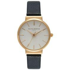 Olivia Burton The Hackney Watch - Black & Gold found on Polyvore