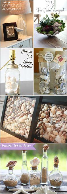 Stunning and creative DIY Seashell Crafts • Diy Homedecorz