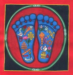 Lotus feet of Viṣṇu