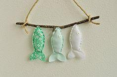 Benutzerdefinierte drei Wunsch Fisch in Mint  Kinderzimmer