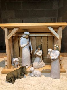 nativity scene stable handmade stable for your nativity set designed to fit the willow tree nativity nativity scene stable pictures Nativity Stable, Nativity Creche, Christmas Nativity Set, Small Christmas Trees, Christmas Tree Ornaments, Nativity Scenes, Christmas 2019, Xmas, Willow Tree Nativity Set