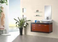 "Sephoria Modern Bathroom Vanity Set 47.2""  Black glass top.  $1300.  Includes mirror"