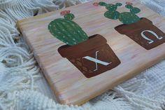 Customizable Sorority Cactus Canvas