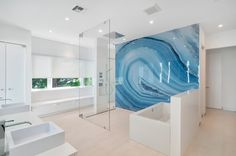 Bathe in a place where you won't want to just get in and out with the top 70 best cool showers. Explore unique bathroom interior design ideas for your home. Luxury Interior Design, Bathroom Interior Design, Interior Design Inspiration, Interior Decorating, Design Ideas, B Architecture, Modern Miami, Crystal Wall, Bathroom Collections