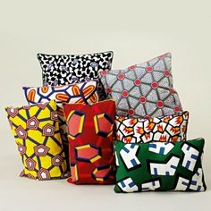 Broidered cushions by Nathalie Du Pasquier.