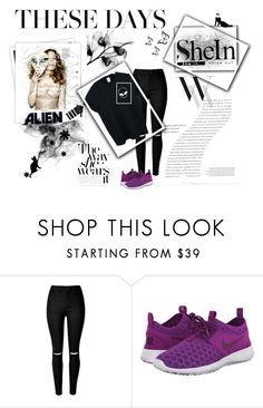 """"""":D"""" by smajicelma ❤ liked on Polyvore featuring Balenciaga, GALA, NIKE and WithChic"""