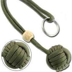 Paracord monkey fist knot.