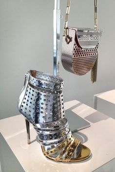 Jimmy Choo, Resort Footwear Highlights --This looks like a cheese grater to me. :-/