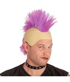 Περούκα Punk Μοϊκάνος σε τρία χρώματα