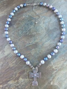 Shades Of Gray Christian Cross Necklace Candydidit.com