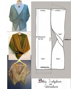 Wrap Pattern Pattern Cutting No Sew Cape Sewing Patterns Free Clothing Patterns Dress Patterns Short Frocks Fabric Manipulation Sewing Clothes Dress Sewing Patterns, Clothing Patterns, Knitting Patterns, Crochet Patterns, Poncho Patterns, Knitting Ideas, Poncho Pattern Sewing, Dress Sewing Tutorials, Simple Knitting