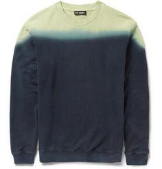 Raf Simons Dip-Dye Loopback Cotton Sweatshirt | MR PORTER