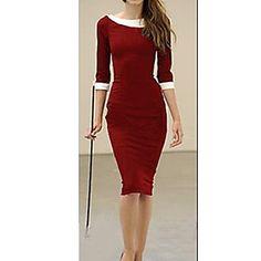 Collar de la muñeca de S & Z Mujer Vestido Rojo – EUR € 12.37