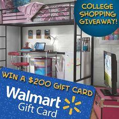 ENTER to WIN a $200.00 Walmart Gift Card!