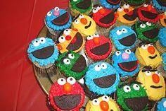 sesame street cupcakes, yes!