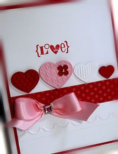 Stampin' Up! - Valentine Defined (Retired) & Fashionable Hearts Embosslits Die & Adorning Accents Dies