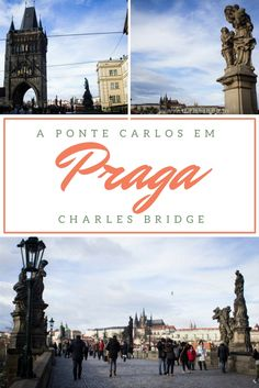 A Ponte Carlos (Charles Bridge ou Karluv Most) de Praga, além de linda, é cheia de lendas.  Nela, você pode apreciar o castelo de Praga, considerado o maior do mundo!