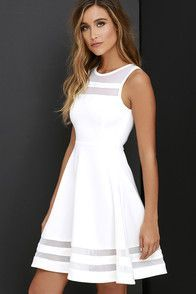 confirmation dresses Simply chic and cute as a button, the Fun-Loving Light Pink Skater Dress will take your dress game to a whole new level! Medium-weight stretch knit starts at Hoco Dresses, Ivory Dresses, Pretty Dresses, Beautiful Dresses, Dress Outfits, Casual Dresses, Elegant Dresses, Cute Blue Dresses, Teen Dresses